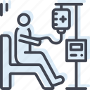 chemo, chemotherapy, intravenous, medical, medication, treatment icon