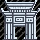 building, china, cityscape, portland, tourism, town icon