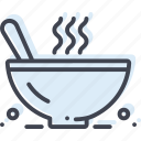 bowl, chowder, dish, food, hot, meal, spoon icon