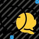 bubble, commenter, feedback, negotiation icon