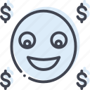 character, emoji, self complacent, smiley icon