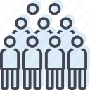 throng, concourse, horde, mob, crowd, multitude icon