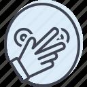 connivance, finger, hand icon