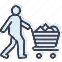 acquisition, basket, cart, consumable, customer, trolley icon