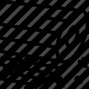 fiberglass, plastic, roll, spoiler icon