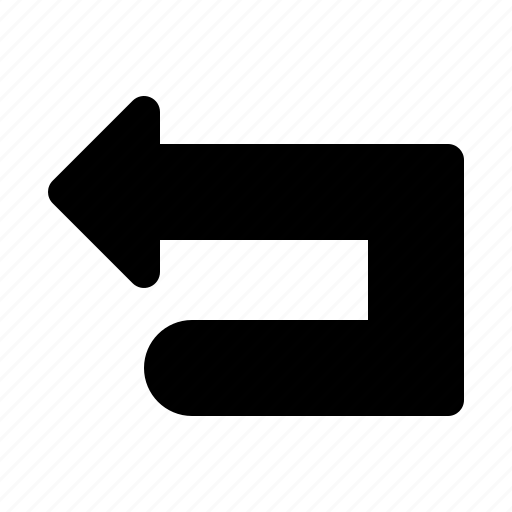 arrow, back, backarrow, fill, response, undo icon