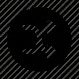 circle, coincidence, random, randomize, shuffle icon