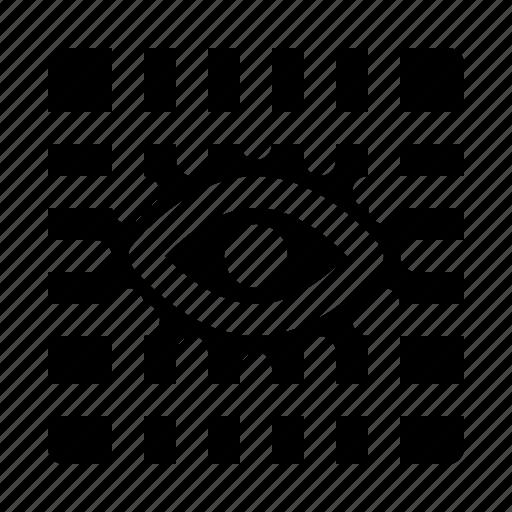 eye, fine, grid, gridview, snap icon