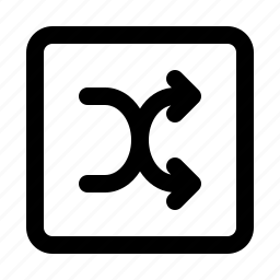 coincidence, corners, random, randomize, round, shuffle icon