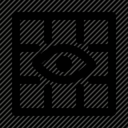 big, eye, grid, gridview, snap icon