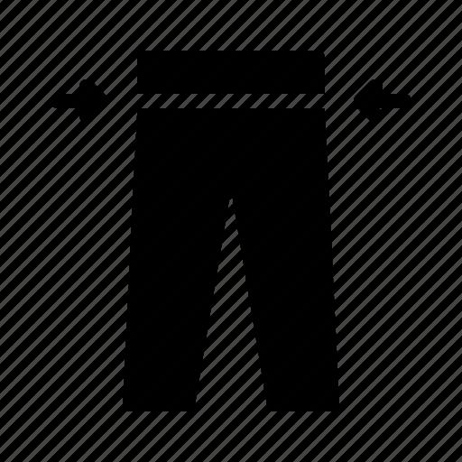 bespoke, cloth, cut, material, pants icon