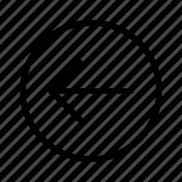 arrow, back, backarrow, circle, undo icon