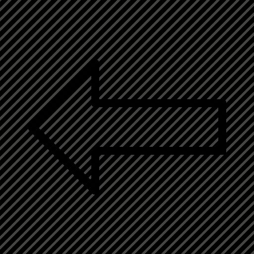 arrow, back, backarrow, fill, small, undo icon