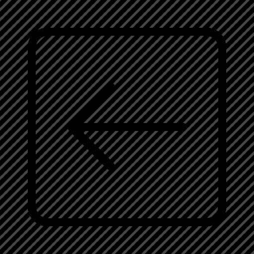arrow, back, backarrow, round, square, undo icon