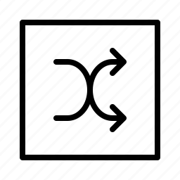 coincidence, random, randomize, shuffle, square icon