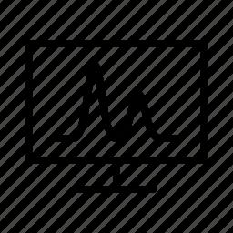 chart, cromatography, display, line, pulse icon