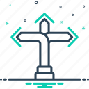 arrow, direction, flank, pathway, quarter icon