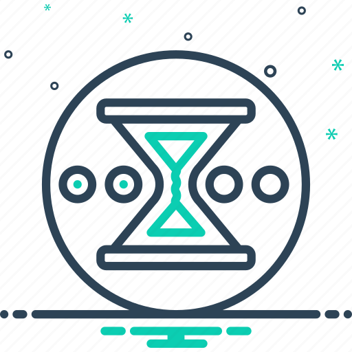 hourglass, imperfect, pending, sandglass, unaccomplished, unfinished, wait icon