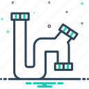 leak, pipe, pipeline, plumbing, tube icon