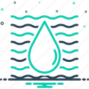 aqua, drop, riverain, riverine, water icon