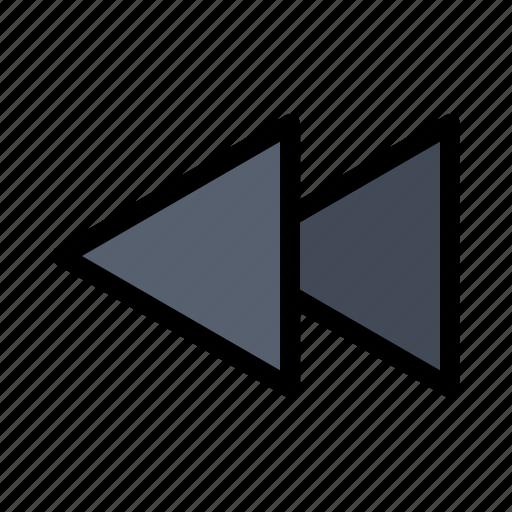 arrow, back, reverse, rewind icon