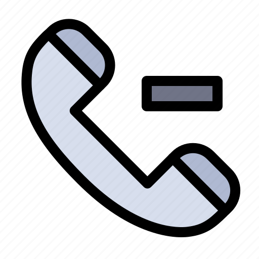 Call, contact, delete icon - Download on Iconfinder