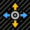 arrow, location, map, navigation