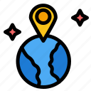 location, map, world icon