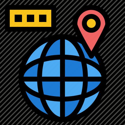 location, map, navigation, world icon