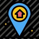 house, map, navigation