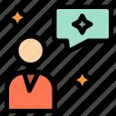 chat, chatting, interface, man