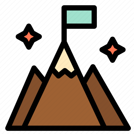 Flag, interface, mountain, user icon - Download on Iconfinder