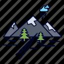 hill, landscape, mountain, nature, rocks icon