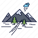 hill, landscape, mountain, nature, rocks