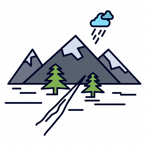 Hill, landscape, mountain, nature, rocks icon - Download on Iconfinder