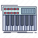 keyboard, midi, synth, synthesiser, synthesizer icon