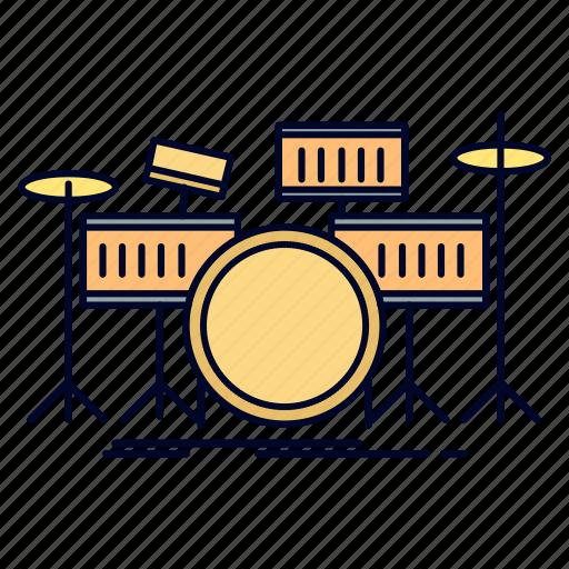Drum, drums, instrument, kit, musical icon - Download on Iconfinder