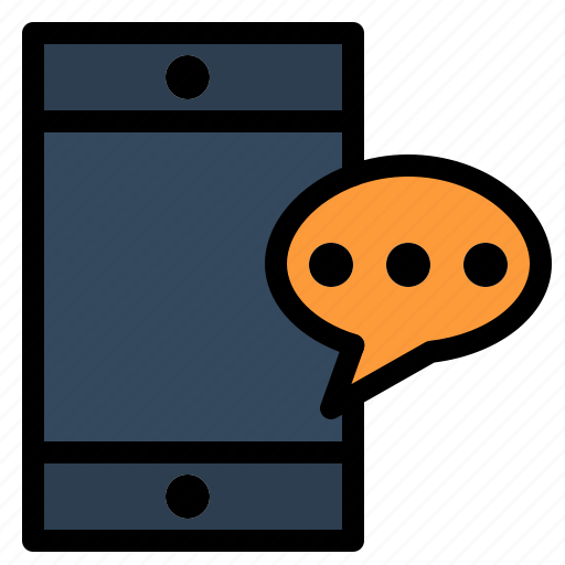 cell, chatting, mobile icon