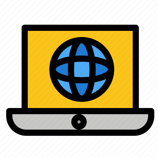 Globe, laptop, technical, world icon - Download on Iconfinder