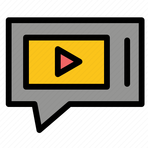 chat, live, service, video icon