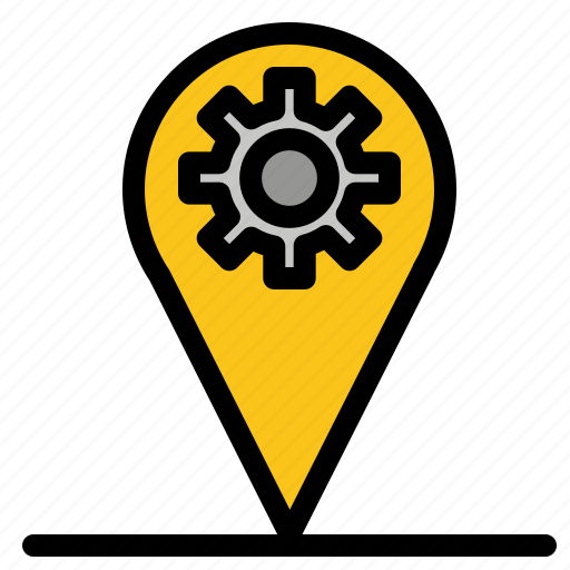 Business, gear, location, map icon - Download on Iconfinder