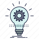 bulb, develop, idea, innovation, light