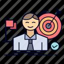 business, goal, hit, market, success