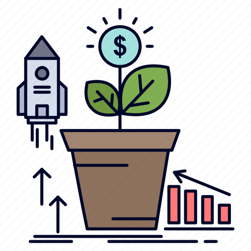 finance, financial, growth, money, profit icon