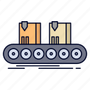 belt, box, conveyor, factory, line