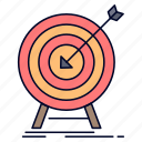 goal, hit, market, success, target