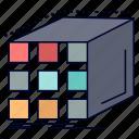 abstract, aggregation, cube, dimensional, matrix