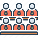audience, cabinet, conference, lounge, parlor, pedestal, waiting room icon