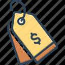 badge, billhead, label, sticker, tag, ticket, trademark icon