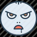demented, emoji, insane, mad, maniac, raving, wild icon
